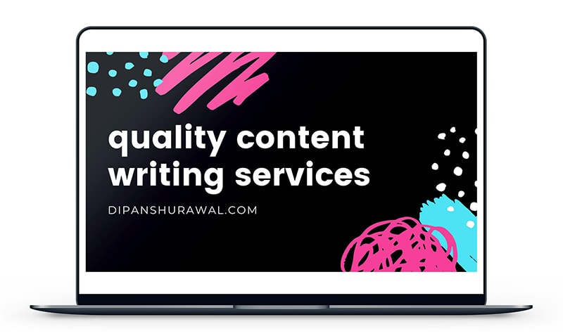 Content Writing Services - Promo