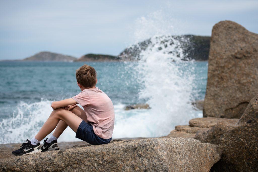 ocean and boy