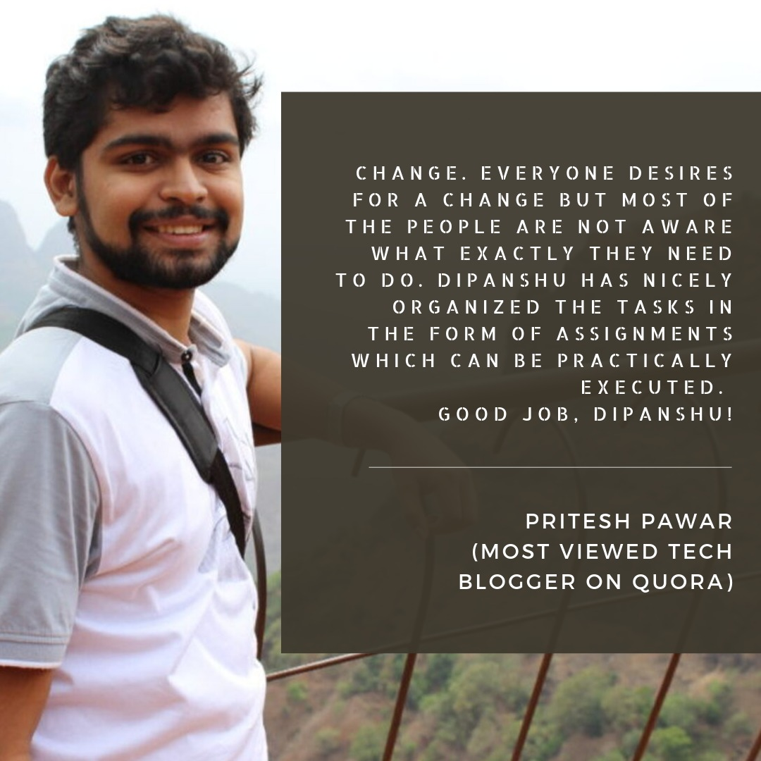 Feedback - Pritesh Pawar - ReDiscover Yourself