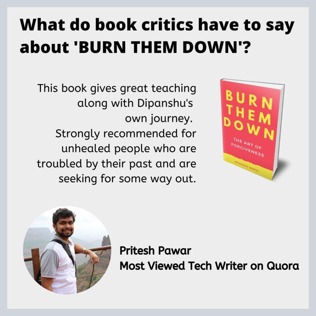 Burn them down - review by Pritesh Pawar